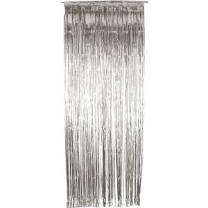 Christmas Decoration - Door Shimmer Curtain - Silver