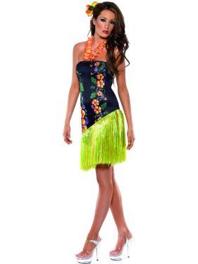 Hawaiian Luscious Luau Costume Dress