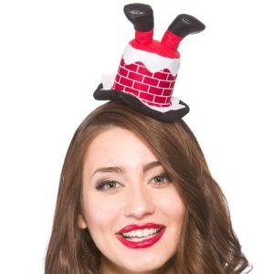 Christmas Mini Santa in Chimney Hat on Headband