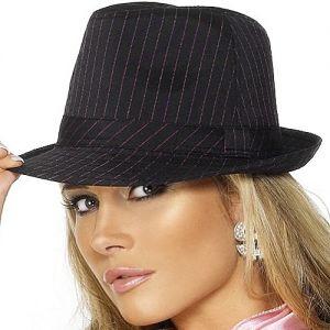 Gangster Fancy Dress Ladies Trilby Hat