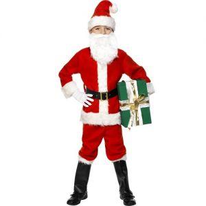 Christmas Fancy Dress - Childrens Deluxe Santa Costume