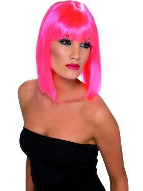 pink glam wig