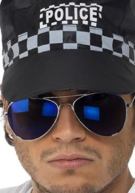 Blue Tinted aviator cop glasses