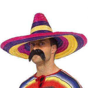 Mexican Fancy Dress Coloured Sombrero
