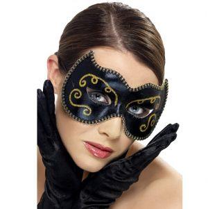 Masquerade Ball Persian Eye Mask - Black/Gold