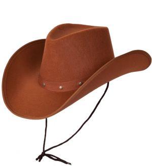 Texan Cowboy Fancy Dress Hat - Brown