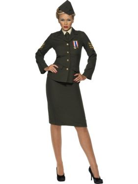 Ladies 40s Wartime Officer Costume - M, L or XL