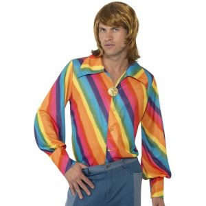 Mens 70s Fancy Dress Shirt