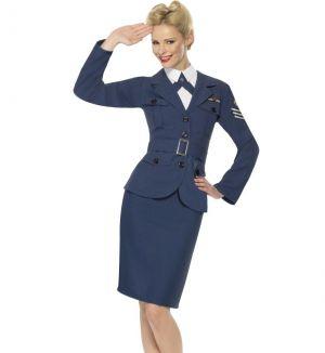 Ladies 40s WW2 Airforce Captain Fancy Dress Costume