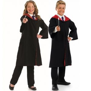 Childrens Wizard Costume Cape & Wand