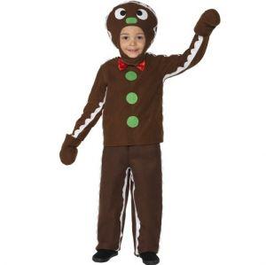 Christmas Boys Gingerbread Man Costume