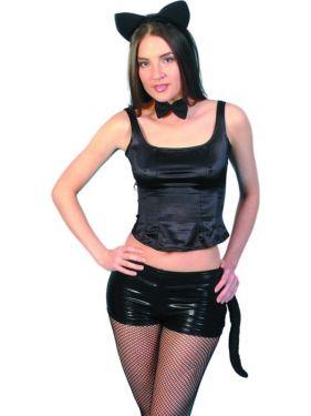 Halloween Deluxe Instant Fur Cat Set-Ears Tail Tie