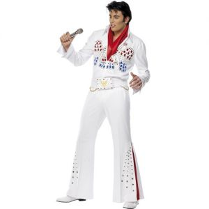 Super Deluxe American Eagle Elvis Fancy Dress Costume