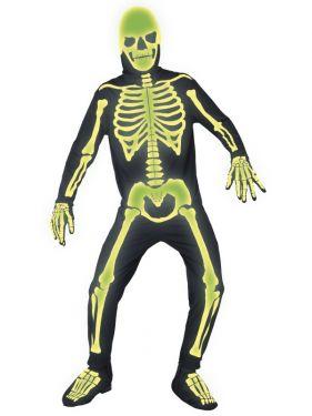 Halloween Glow in Dark Skeleton Bones Costume - M & L