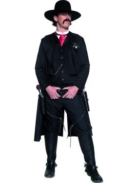 Cowboy Fancy Dress - Authentic Sheriff Costume - M