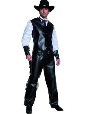 Cowboy Authentic Gunslinger Gunfighter Costume - Medium