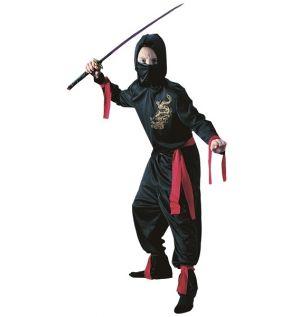 Childrens Black Ninja Costume