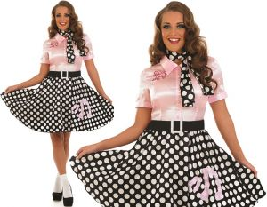 Ladies 50s Rock n Roll Fancy Dress Costume