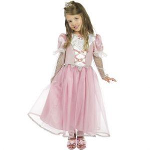 Childrens Fancy Dress - Girls Princess Costume - Pink - M 7-9 Years