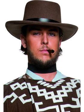 Cowboy Fancy Dress Wandering Gunman Clint Hat