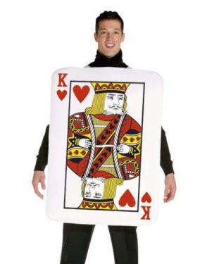 Mens Fancy Dress - Adult King of Hearts Costume - One Size