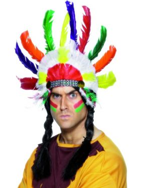 Cowboy Fancy Dress - Indian Sitting Bull Headdress