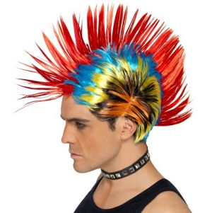 80s Funky Punk Mohawk Mohican Wig