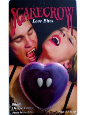 Halloween Deluxe Quality Vampire Tooth Cap Fangs in Heart Box