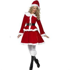 Christmas Fancy Dress - Ladies Deluxe Miss Santa Costume