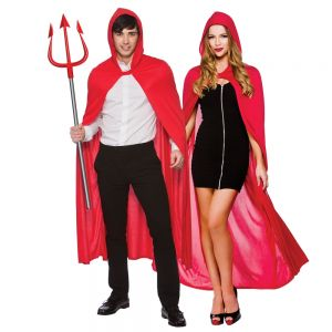 Adult Long Hooded Cape - Red