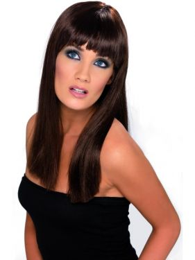 80's Brown Glamourama Wig with Fringe