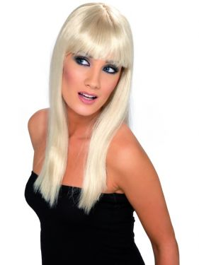 80's Blonde Glamourama Wig with Fringe