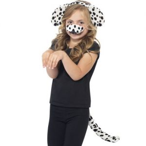 Childrens Fancy Dress Dalmation Ears, Tail & Nose Set