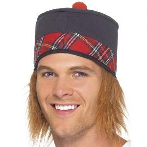 Traditional Scottish Fancy Dress Hat & Hair