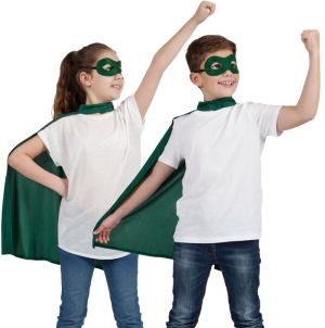 Childrens Superhero Cape Kit - Green