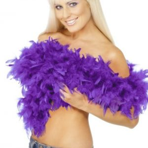 Deluxe Feather Boa - Purple