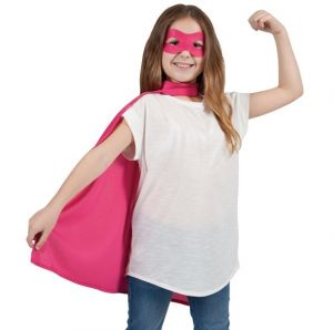 Childrens Superhero Cape Kit - Pink