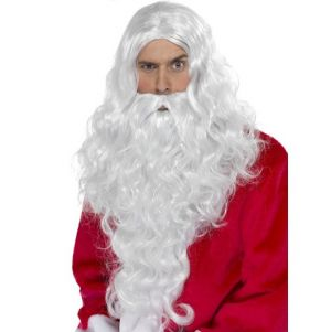 Deluxe Long Santa Wig & Beard Set