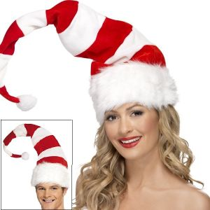 Deluxe Fancy Dress Adjustable Tall Santa Hat