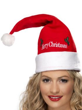 Christmas Fancy Dress - Santa Hat with Merry Christmas Detail