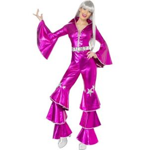 1970s Pink Dancing Dream Fancy Dress Costume