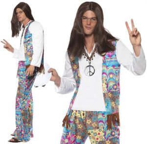 Mens 60s Groovy Hippy Costume