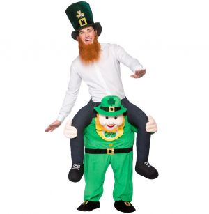 Deluxe Carry Me Leprechaun Fancy Dress Costume
