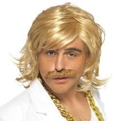 Keith Lemon Game Show Host Wig & Tash Set
