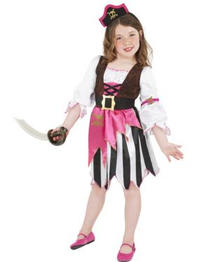 Childrens Fancy Dress - Pirate Girl Costume