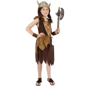 Girls Viking Fancy Dress Costume