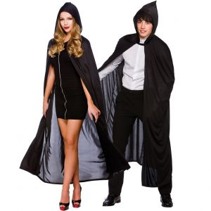 Adult Long Hooded Cape - Black