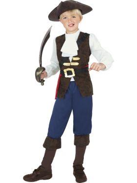 Childrens Pirate Jack Costume - S, M & L