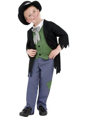 Childrens Fancy Dress - Poor Dodgy Victorian Boy Costume