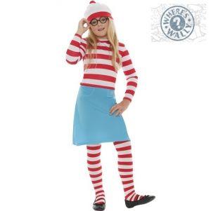 Childrens Wheres Wally Wenda Fancy Dress Costume